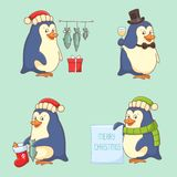 Christmas Character - Penguin Royalty Free Stock Photography