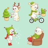 Christmas Character - Polar Bear Royalty Free Stock Photo