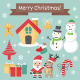 Christmas character set, Chirstmas cartoon collection. Christmas character set, Chirstmas cartoon collection,  vector illustration Royalty Free Stock Image