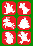 Christmas Character Silhouettes Stock Photo