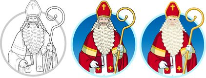 Christmas Character Sinterklaas set Stock Photography