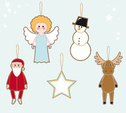 Christmas character tags Royalty Free Stock Photos