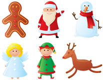 Christmas characters. Christmas icons set. Part 3 (characters Royalty Free Stock Photo