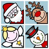 Christmas characters Stock Images