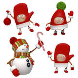 Christmas characters Stock Image