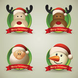 Christmas characters Stock Photos