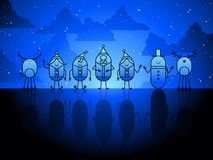 Christmas characters background Royalty Free Stock Image