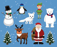 Christmas Characters Cartoon Vector Illustration Royalty Free Stock Image