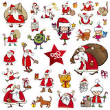 Christmas characters cartoons Royalty Free Stock Images