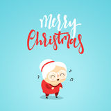 Christmas characters cute an elderly woman in the style of flat. Royalty Free Stock Images