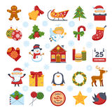 Christmas Characters And Decorations Set Royalty Free Stock Images