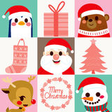 Christmas Characters Elements Cards Stock Images