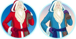 Christmas Characters Father Frost and Pere Noel Stock Images