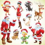 Christmas characters Royalty Free Stock Image