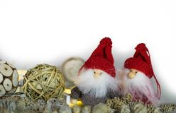 Christmas pictures and illustrations. Waiting for Santa Clauss. Christmas characters photographed in an afternoon waiting to be printed. Waiting for Santa Claus royalty free stock image