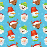 Christmas characters seamless pattern Stock Photos