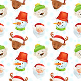 Christmas characters seamless pattern Royalty Free Stock Images