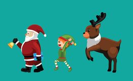 Christmas Characters Set Cartoon Vector Illustration 6 Stock Image