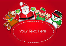 Christmas Characters template card royalty free illustration