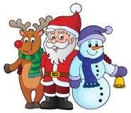 Christmas characters theme image 1 Royalty Free Stock Photography