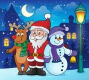 Christmas characters theme image 2 Royalty Free Stock Image