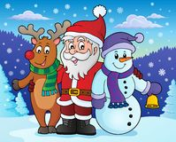 Christmas characters theme image 4 vector illustration