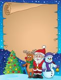 Christmas characters theme parchment 1 Royalty Free Stock Photos