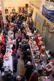 Christmas Charity Bazaar, organised by The International Women`s Club of Riga. 01.12.2018. RIGA, LATVIA. Christmas Charity Bazaar, organised by The royalty free stock images