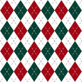Christmas Check Pattern royalty free illustration