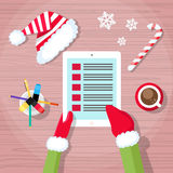 Christmas Check Present Wish List Santa Clause Stock Photo