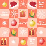 Christmas checkered  background Royalty Free Stock Photography
