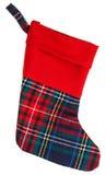 Christmas checkered stocking Stock Photo