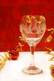 Christmas Cheer. A cocktail in a pretty glass ready to toast the holidays Stock Image