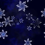 Christmas cheers. Abstract art of snowflakes swirling in a storm Stock Photography