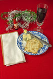 Christmas Cheese and Wine Royalty Free Stock Photo