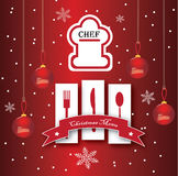 Christmas Chef Royalty Free Stock Photography