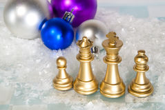 Christmas chess Royalty Free Stock Photo