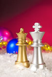 Christmas chess Royalty Free Stock Images