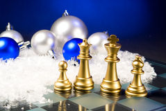 Christmas chess Stock Images