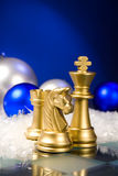 Christmas chess Royalty Free Stock Image