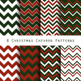 Christmas chevron pattern collection Stock Photos