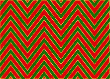 Christmas Chevron Stripes Background Pattern Red Green Royalty Free Stock Photography