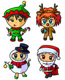 Christmas chibi Stock Images