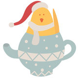 Christmas chick Royalty Free Stock Images