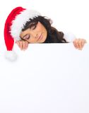 Christmas chick with board Stock Image