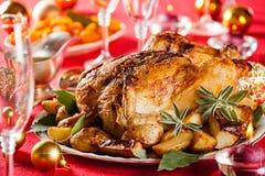 Christmas Chicken Royalty Free Stock Photos