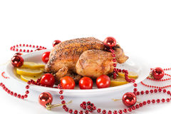 Christmas chicken Stock Image
