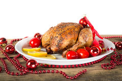 Christmas chicken Stock Photography