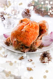 Christmas Chicken Royalty Free Stock Photos