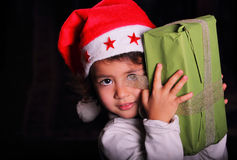 Christmas child portrait Stock Photos